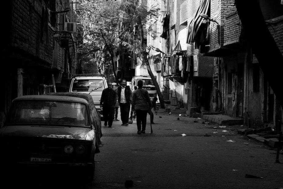 Street scene in Cairo Egypt