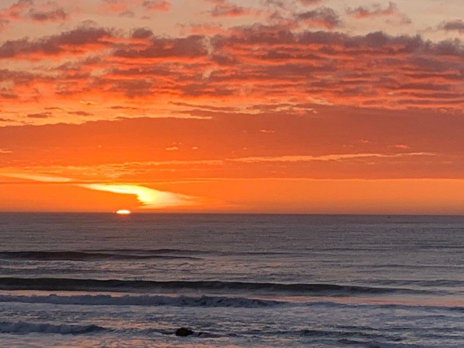 Magnificent sunset on the gorgeous Oregon Coast