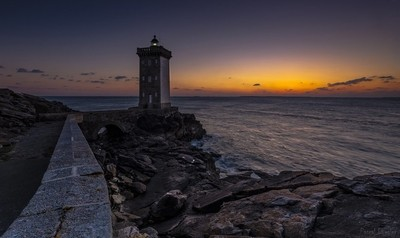 Lights on Iroise sea