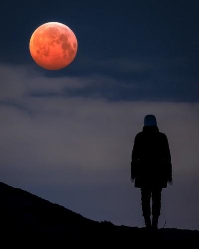 Super Blood Wolf Moon in Lieto, Finland