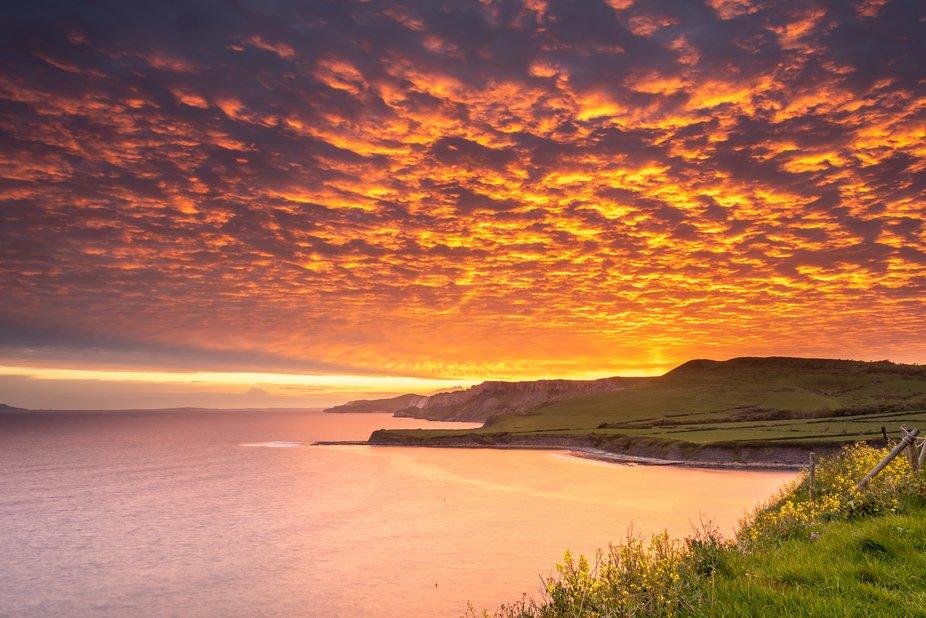 Clavell Tower Dorset Sunset