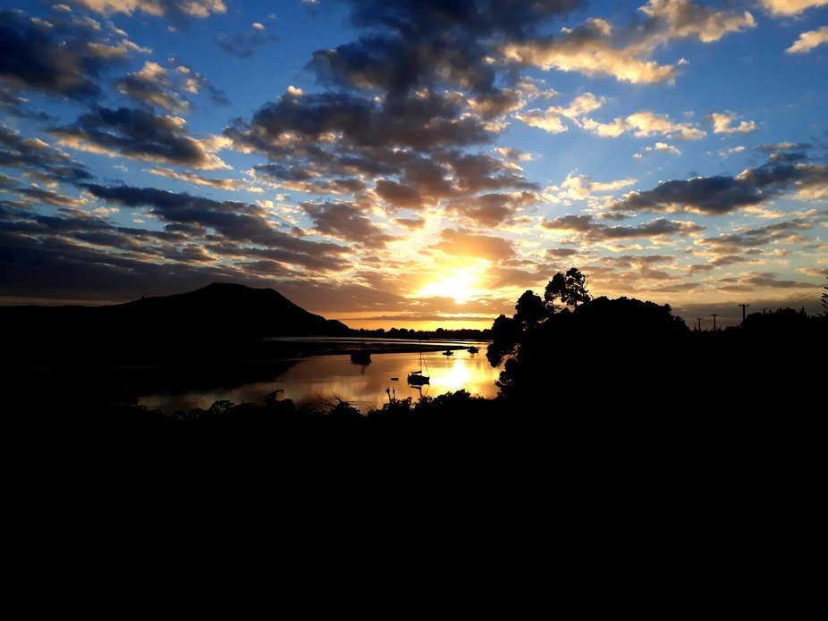 Stunning sunrise just needed to be captured. Houhora far north NZ  Cellphone