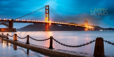 Raining Sunset At The Golden Gate Bridge