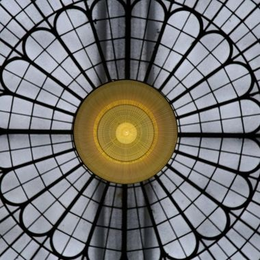 Dome skylight at the Literary & Philosophical Society building in Newcastle upon Tyne, UK