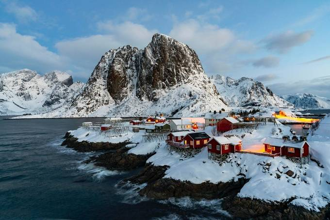 The Lofoton Islands are beautiful in January!  by samkilman - Photogenic Villages Photo Contest