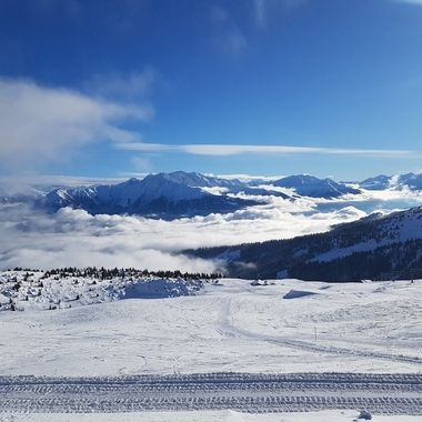 Sunny day at alps