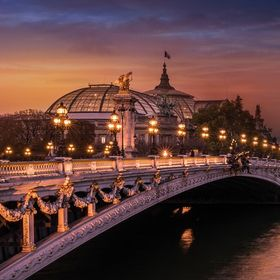 The beautiful Pont Alexandre III that connects the Grand and Petit Palais with the Hôtel des Invalides. I love this architecture and Paris is a ...