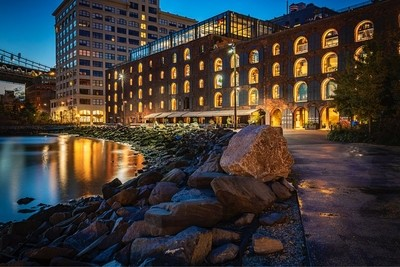 """Dawn in Dumbo Brooklyn, a two minute exposure along """"The Water's Edge"""" of New York City's 522 miles of shoreline."""