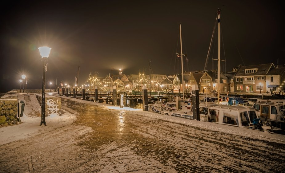 hometown Urk in winter clothes.,wednsday 23-1-2019 early morning 6a.m