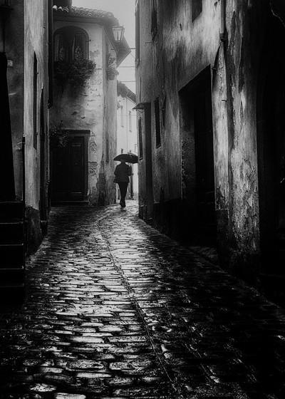 Rainy day Tuscany