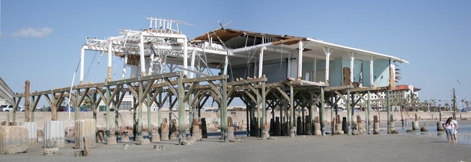 Murdoch's Bathhouse in Galveston, TX taken Nov 2, 2008 after Hurricane Ike.  Taken from ...