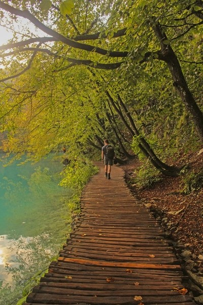 Plitvice Lakes National park in Croatia - hiking route