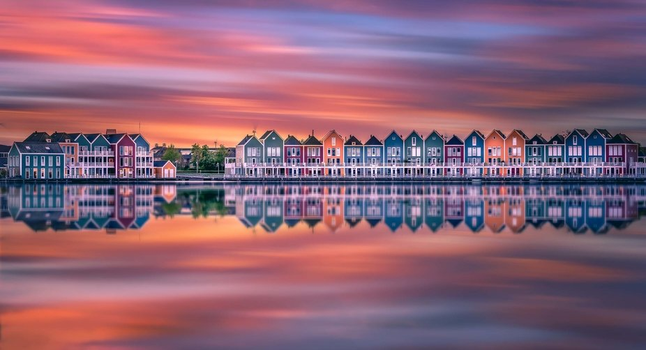 This image was taken in Houten. A small city in the Netherlands. I love these colorful house and ...