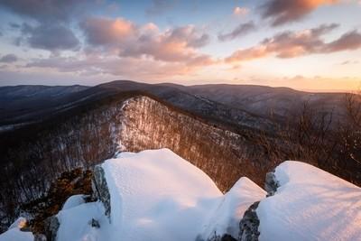 Snowy Appalachian Mountains