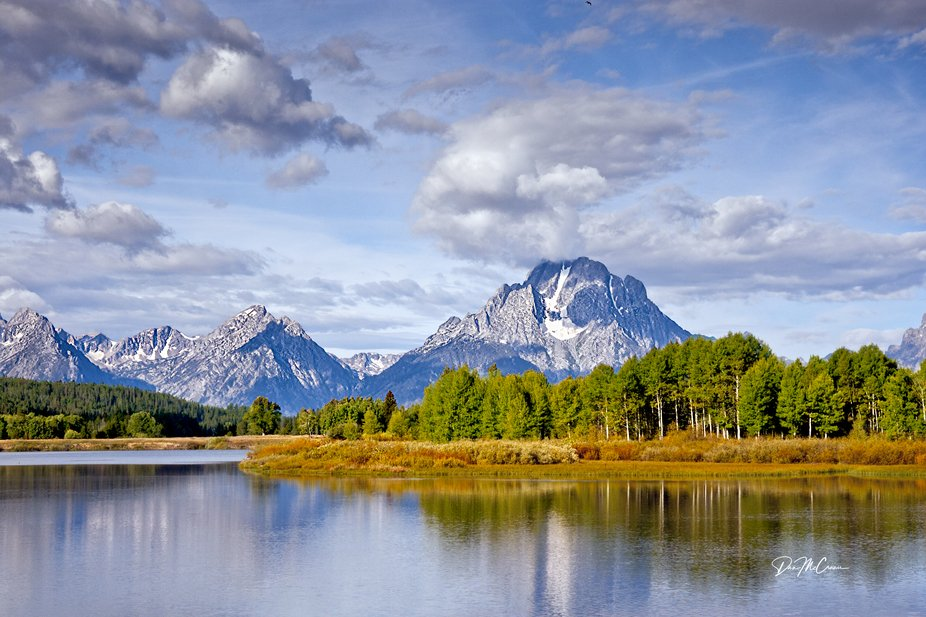 Oxbow Bend / Mt. Moran, Enhanced. Grand Tetons NP