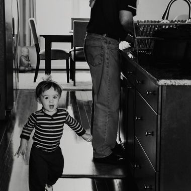 {Jax and Papaw} Run Around the Island While Papaw Does Dishes
