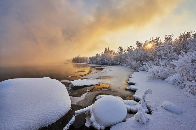 At the Angara river by andmare - We Love The Winter Photo Contest