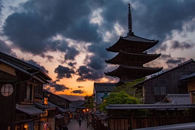 kyoto at eving by andygrzess - The Magic Of Japan Photo Contest
