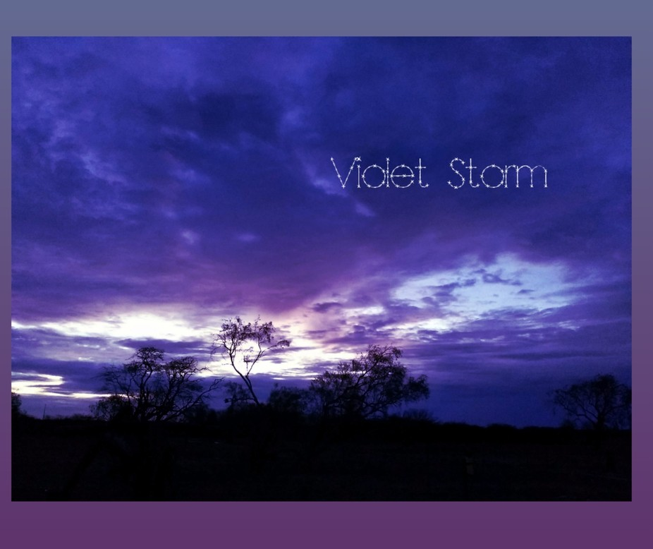 Violet Storm I could see the beauty in these clouds, could see hues of purple too.