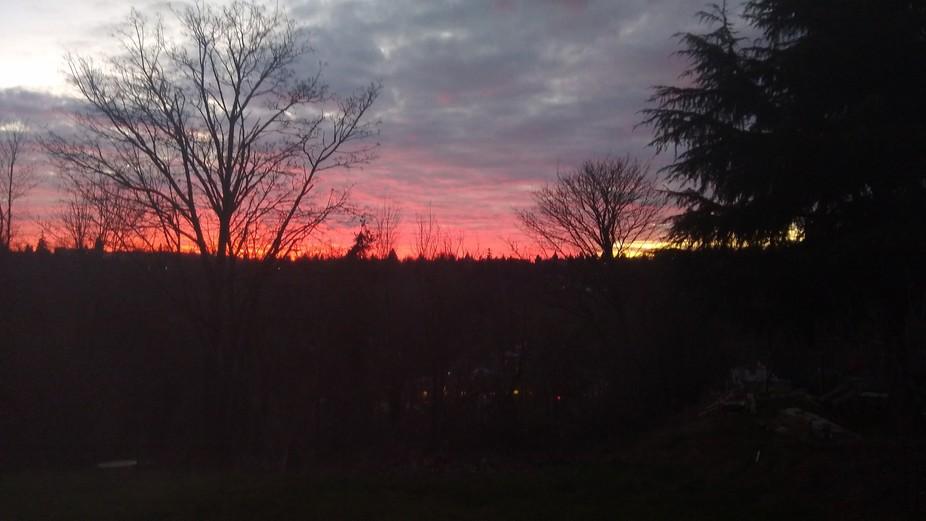 beautiful Seattle sunset West Seattle