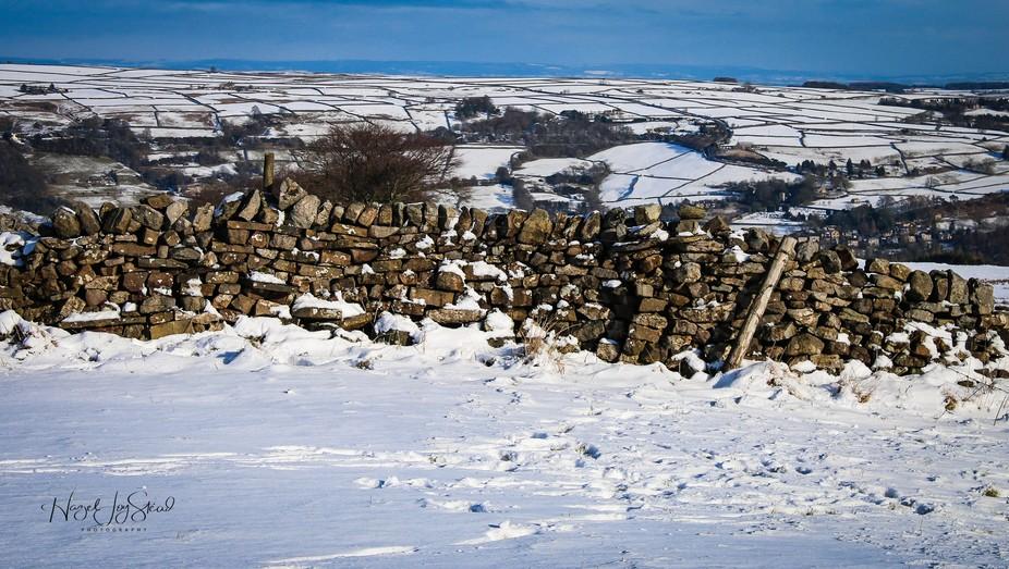 Winter Wall Greenhow Hill sat 2nd feb 19