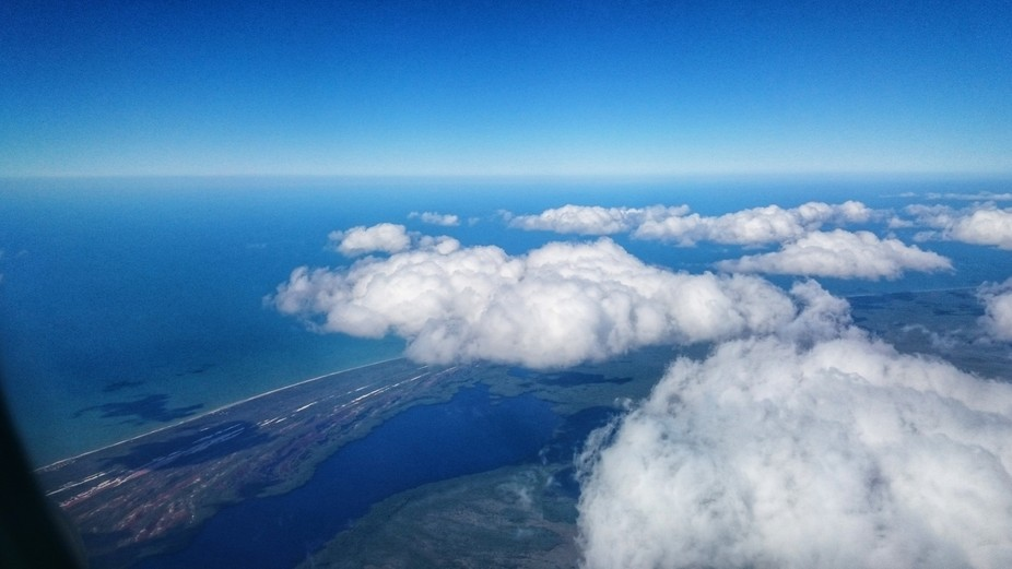 This photo was taken in a flight over Mexican gulf,  we were traveling from Guadalajara to  Méri...