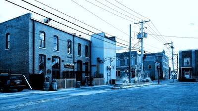 Back Street View - CyanoType