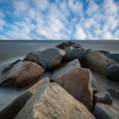 One of my favorite photography subjects.  Rocks and water.