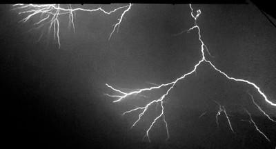 Lightning in the dark !
