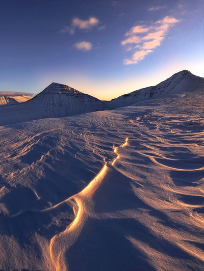 Looking more like the alps, this is the Brecon Beacons in Wales. Stunning walk up in deep snow and amazing sunset.
