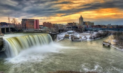High Falls Sunset