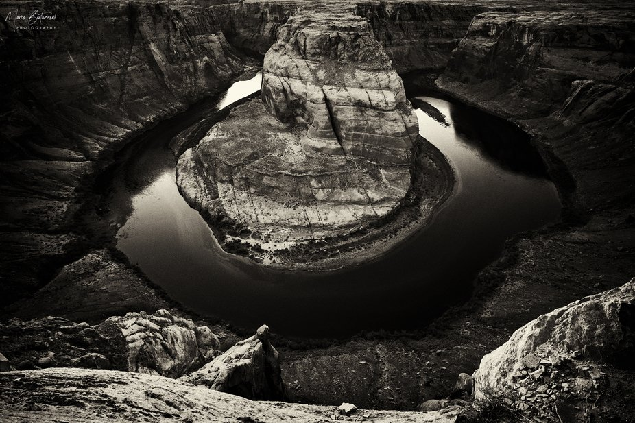 A different perspective of the famous Horseshoe Bend, Arizona - USA