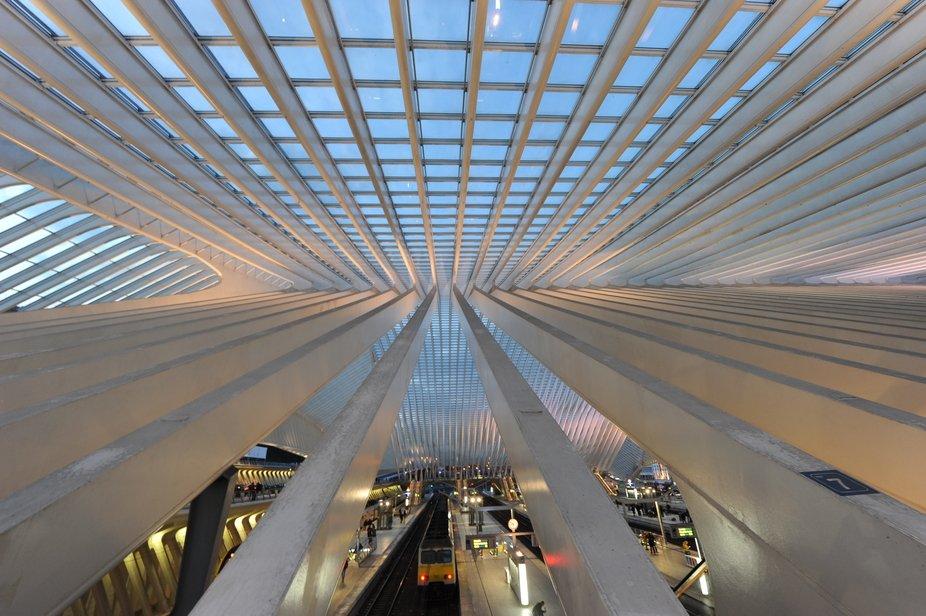 Liège-Guillemins railway station by the architect Santiago Calatrava