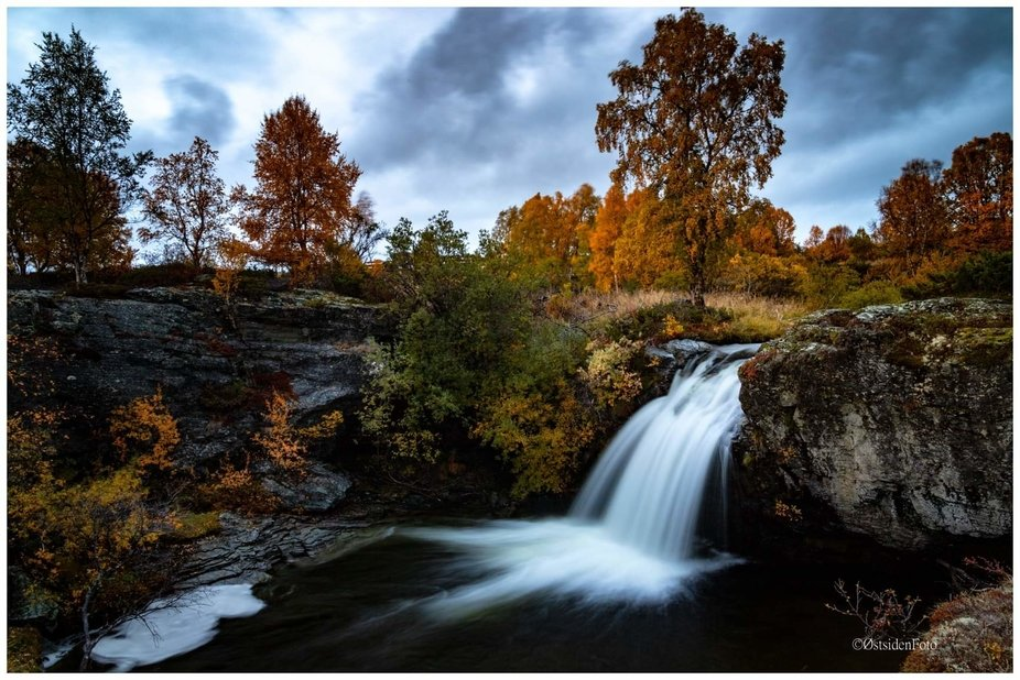 Nice waterfall in Rondane, Norway