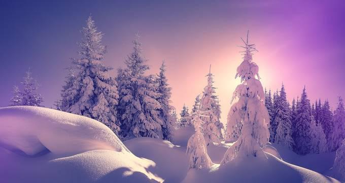 Fantastic winter sunset by Yevhenii_Chulovskyi - We Love The Winter Photo Contest