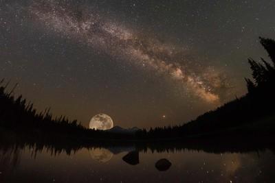 Scott lake under super moon