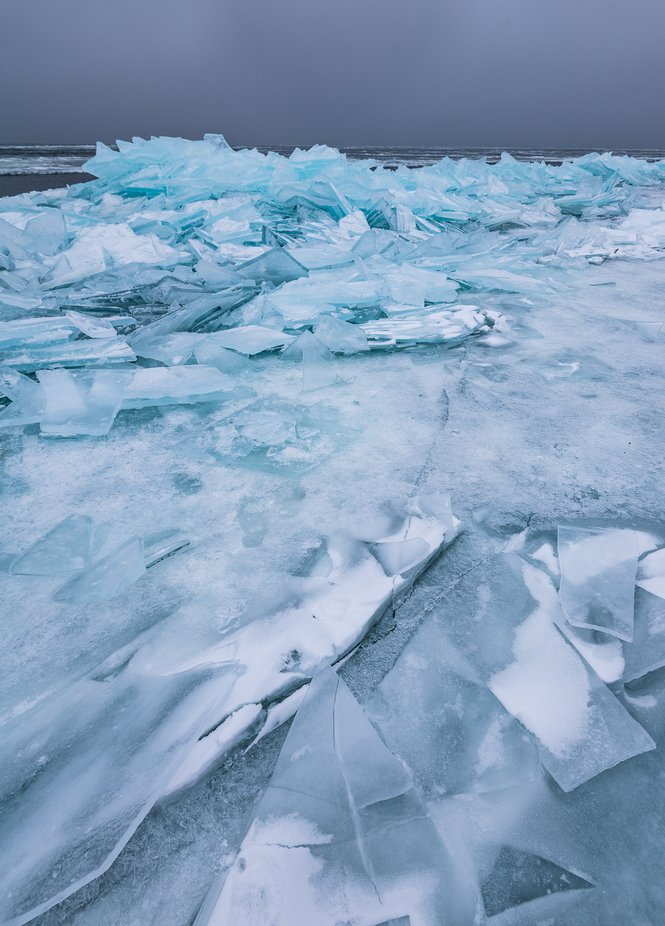 Ice Stacks on Lake Superior by MatthewMosesPhotography - Monthly Pro Photo Contest Vol 48