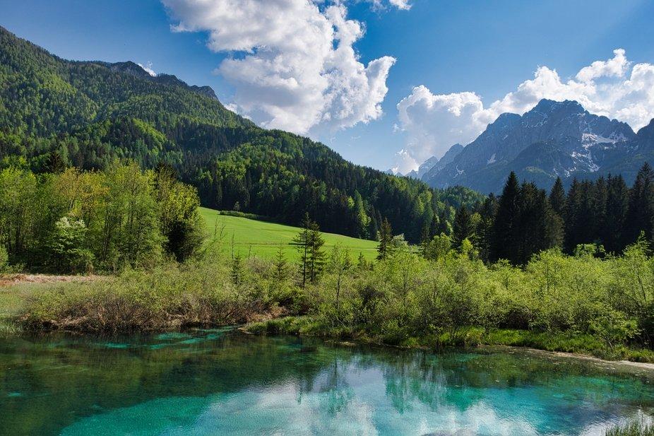 Beautiful Slovenia - the source of Sava River
