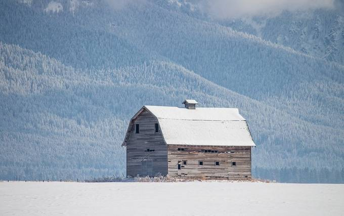 Winter Barn by RusticNationPhotography - We Love The Winter Photo Contest