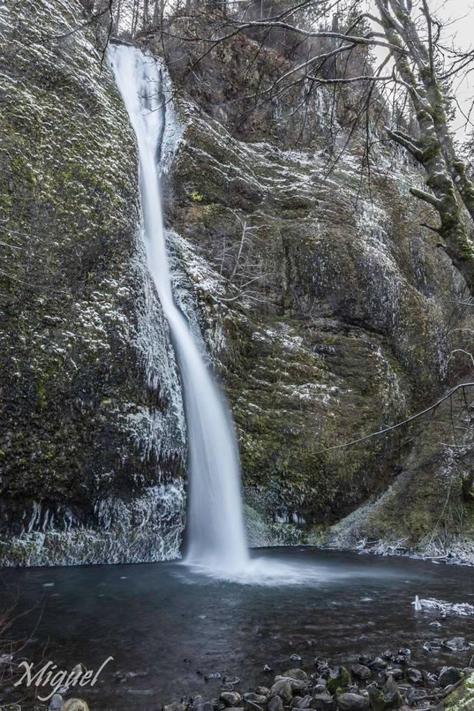 Winter at Horsetail falls