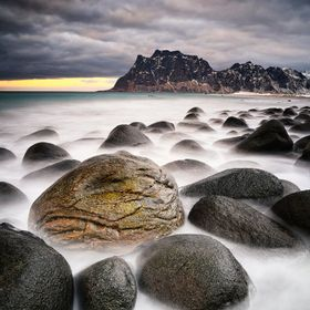 a nice boulder beach in Norway