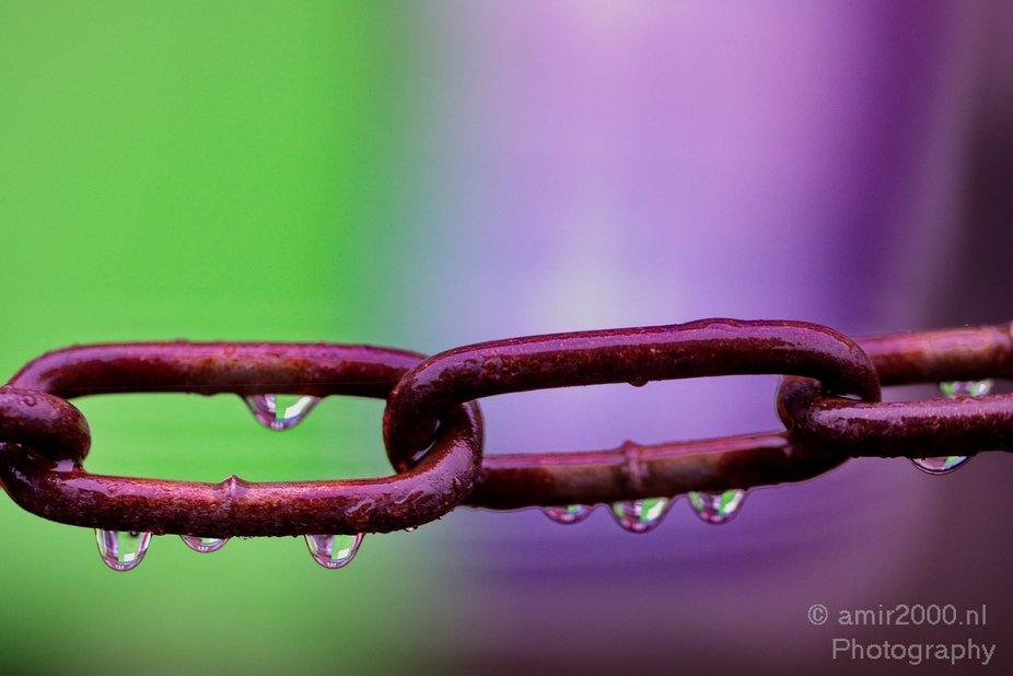 Chain & Rain Drops