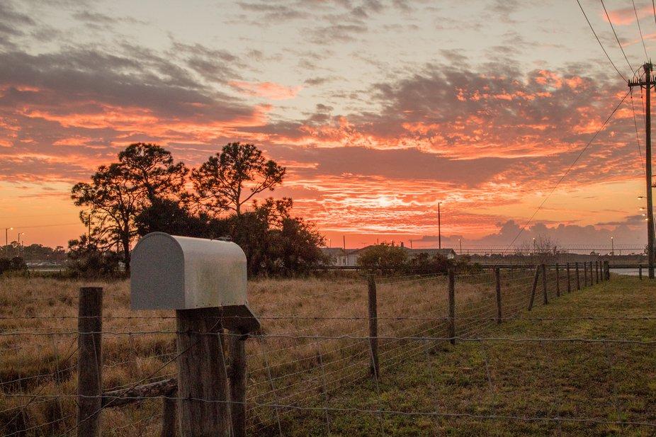 Sunset mailbox