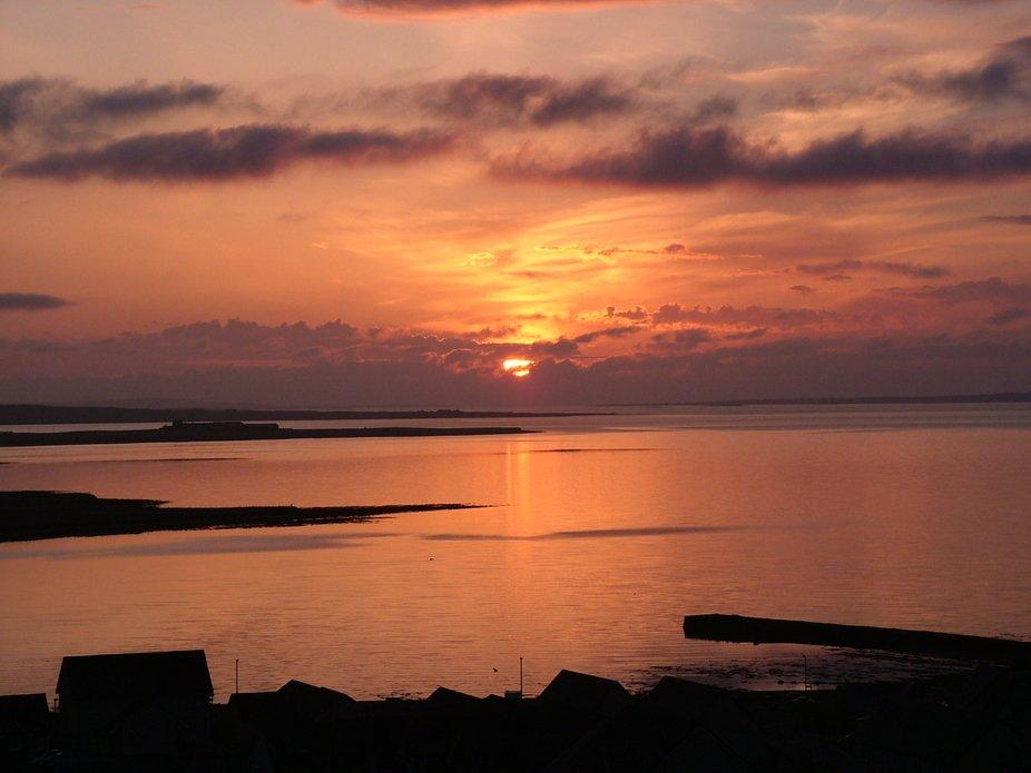 early morning summer sunrise.