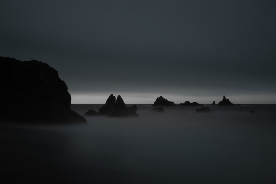 2 Minute long exposure at the Copper Coast sea stacks on the shores of Co Waterford in Ireland.
