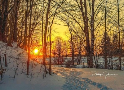 Sunset on Delta Lake