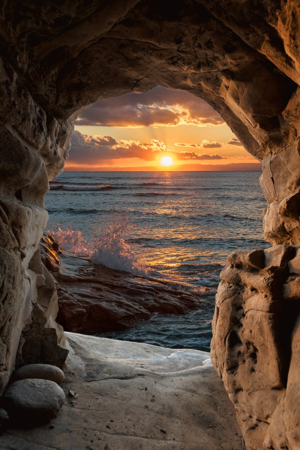 Cave Sunset by Muuu34 - Image Of The Month Photo Contest Vol 42