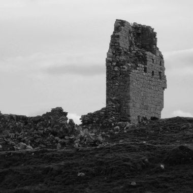 All that's left of a castle dating from circa 1250
