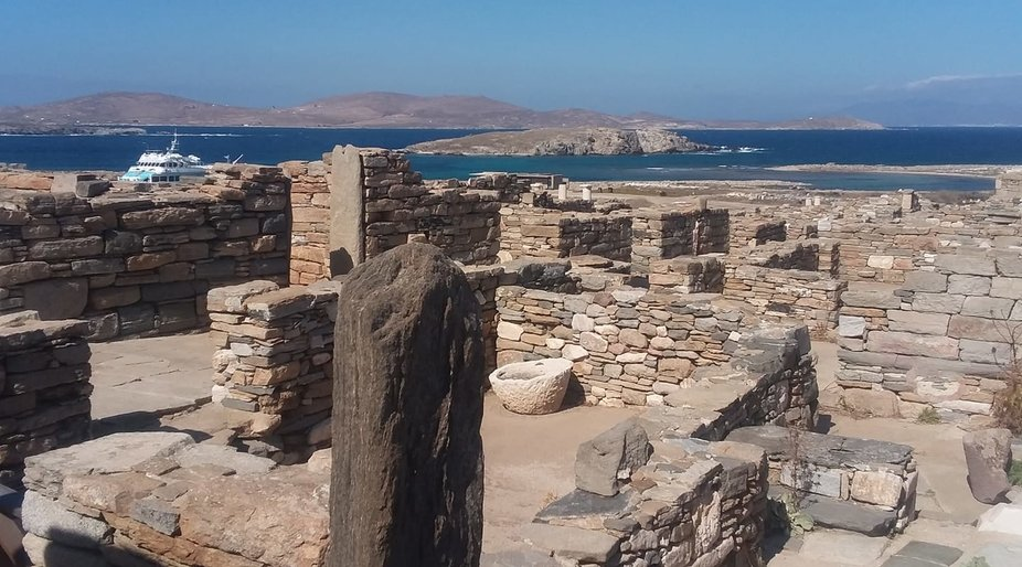 We are at the Delos island...ancient scared site..