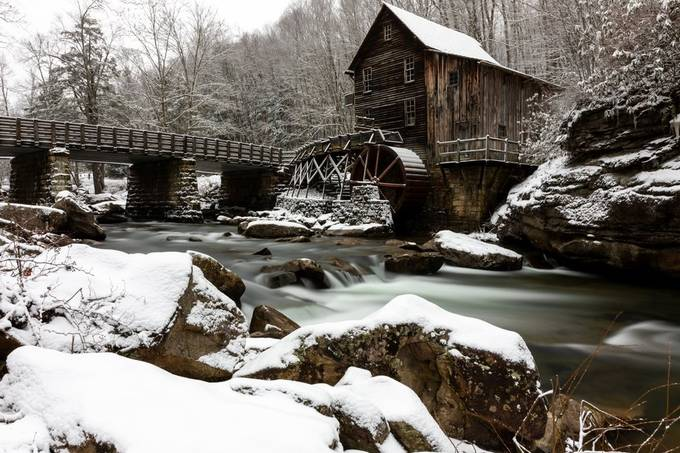Winter Scene Of Grist Mill by Selswick - Image Of The Month Photo Contest Vol 42